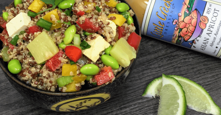 asian quinoa bowl
