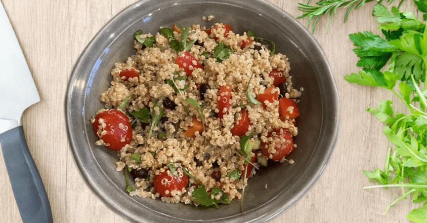 smoky lime quinoa salad