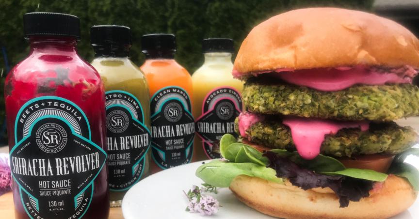 green veggie burger